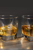 Scotch on the rocks Royalty Free Stock Photo