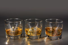Scotch on the rocks Royalty Free Stock Images
