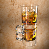 Scotch On The Rocks Stock Photography