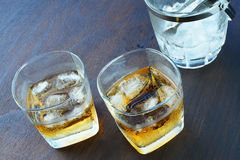 Scotch on the rocks Royalty Free Stock Image