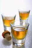 Scotch in shot glasses. 12 year old single malt scotch in shot glasses Royalty Free Stock Images