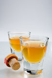 Scotch in shot glasses Stock Photography