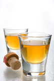Scotch in shot glasses Royalty Free Stock Image