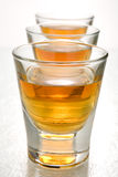 Scotch in shot glasses Stock Image