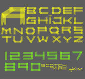 Scotch tape alphabet Royalty Free Stock Image