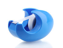 Scotch tape in blue holder Royalty Free Stock Photos