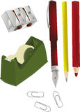 Scotch tape dispenser pencil sharpener Stock Image