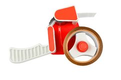 Scotch tape dispenser. Isolated on white background Royalty Free Stock Image