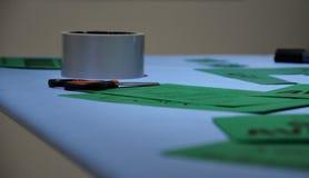 Scotch tape scissors Stock Photo