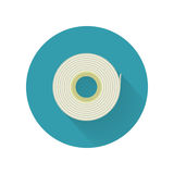 Scotch Tape Vector Icon in Flat Style Design. Scotch tape vector icon in flat style. Office supplies, tools and instruments. Illustration for application button Royalty Free Stock Photos