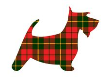 Scotch terrier tartan texture plaid red pattern scotland. Vector illustration Stock Image