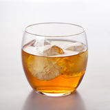 Scotch whiskey drink in glass Stock Photo