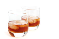 Scotch whiskey and ice Stock Images