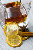 Scotch whiskey with lemon Stock Images