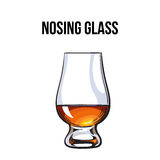 Scotch whiskey, rum, brandy nosing glass Stock Photo