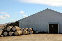 Scotch Whisky Distillery Isle of Islay Scotland. Malt Whisky Distillery on Isle of Islay Scotland stock image