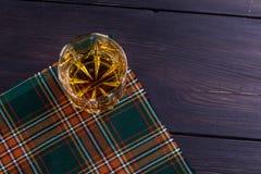 Scotch whisky on tartan Royalty Free Stock Photography