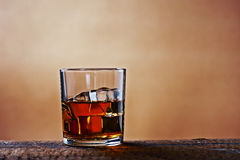 Scotch on wooden background Royalty Free Stock Images