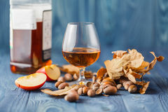Scotch on wooden background with copyspace. Royalty Free Stock Photos