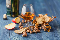 Scotch on wooden background with copyspace. Stock Images
