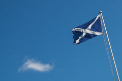 Scottish flag with copyspace Stock Photo