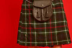 Scotish guy wearing a kilt . Stock Photography