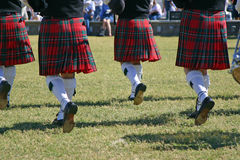 Scotish Marching. Pipeband Royalty Free Stock Photos