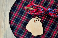 Scotish textil serviette Stock Photo