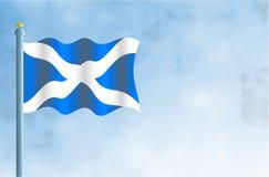 Scotland. National flag of Scotland Stock Image