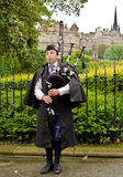 Scotland bagpiper Stock Photos