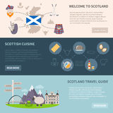 Scotland Banners Set Royalty Free Stock Image
