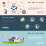 Scotland Banners Set royalty free illustration