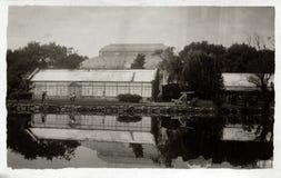 Scotland Botanical Garden Greenhouse & Reflection Stock Photos