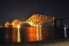 Scotland. Bridge at night near Edinburg Stock Photo