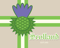 Scotland card concept Royalty Free Stock Photos