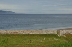 Scotland cemetery on the sea. Fort George cemetery for service dogs Stock Photo