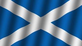 scotland chor?gwiany falowanie animacja footage T?o royalty ilustracja