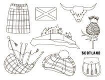 Scotland country set icons Stock Photos