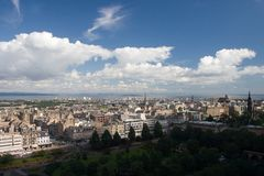 Scotland-Edinburgh as view from the castle. Scotland-A view of Edinburgh from the castle Stock Images
