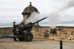 Scotland, Edinburgh, One o' clock gun. Royalty Free Stock Image