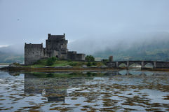 Scotland Eilean Donan castle 2. Eilean Donan castle lateral view Stock Photo