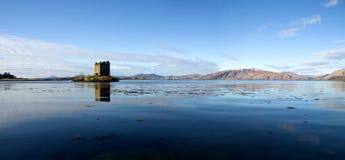scotland för upplösning för argyllslott hög stalker arkivbild
