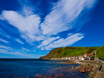 Scotland fishing village. Landscape view of a fishing village in Scotland Stock Photos