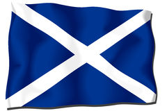 Scotland Flag. Flag of Scotland waving in the wind Vector Illustration