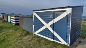 Scotland flag on beach hut Royalty Free Stock Photos