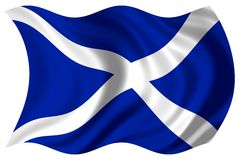 Scotland flag isolated Royalty Free Stock Photo