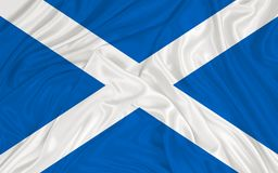 Scotland flag. On waving fabric textil vector illustration