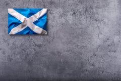 Scotland flag. Scottish flag on concrete background.  stock photos
