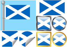 Scotland Flag Set Stock Photo