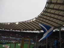 Scotland flag stadium. Scotland flag Olympic Stadium of Rome royalty free stock image